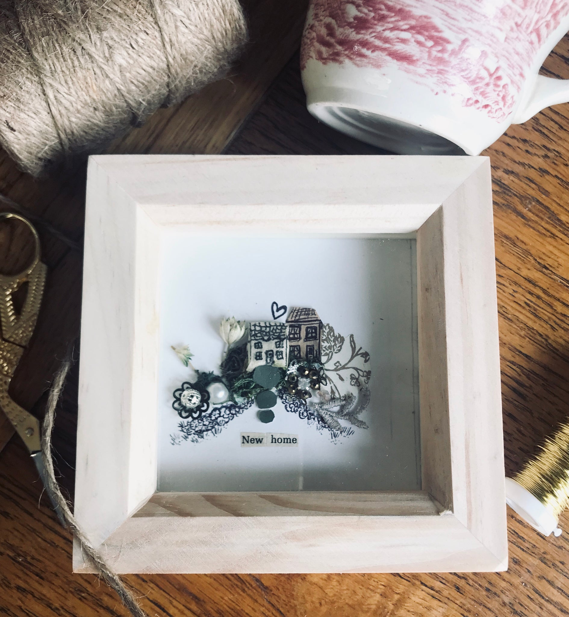 'New Home' shadow box