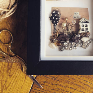 In the nest shadow box artwork