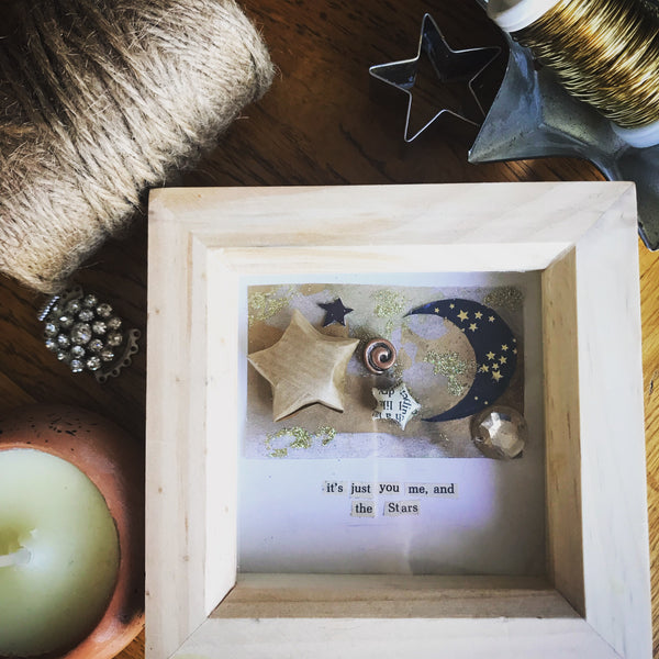 It's just you me and the stars shadow box