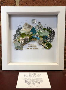 Life was meant for good friends and great adventures Shadow box message artwork