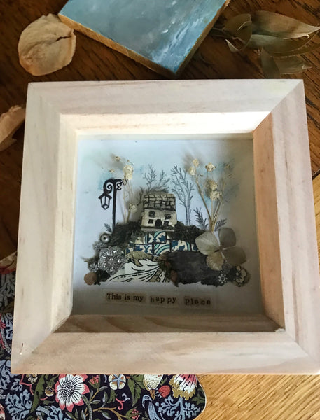 'My happy place' shadow box