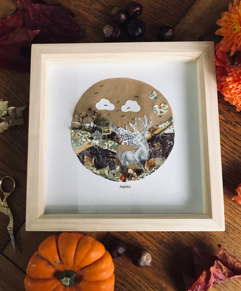 'Autumn themed' shadow box