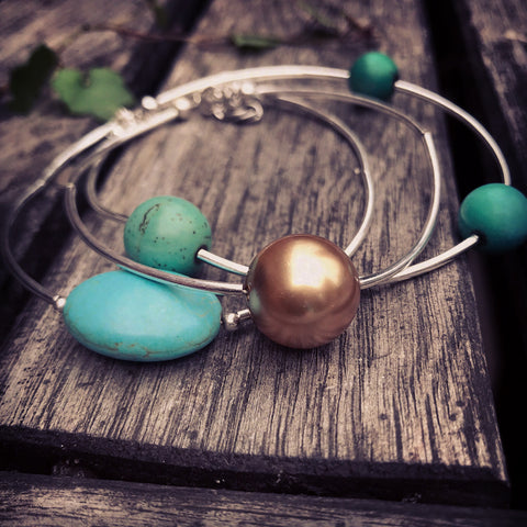 Stacked Bracelets 4 - pick your colour combination