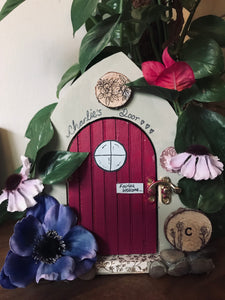 Pink and purple fairy door