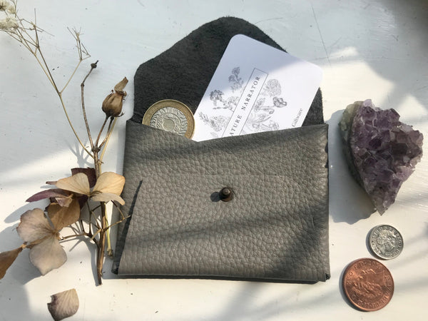 Grey Leather coin purse