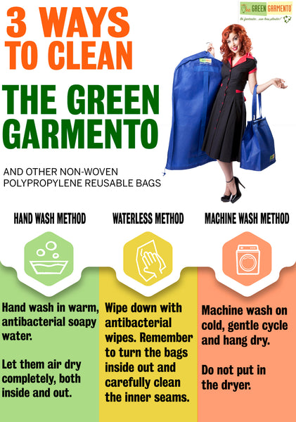 3 ways to clean your green garmento bags