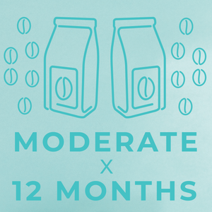 Moderate- 12 month paid subscription-Rotating-Neon Coffee Company