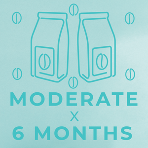 Moderate- 6 month paid subscription-Rotating-Neon Coffee Company
