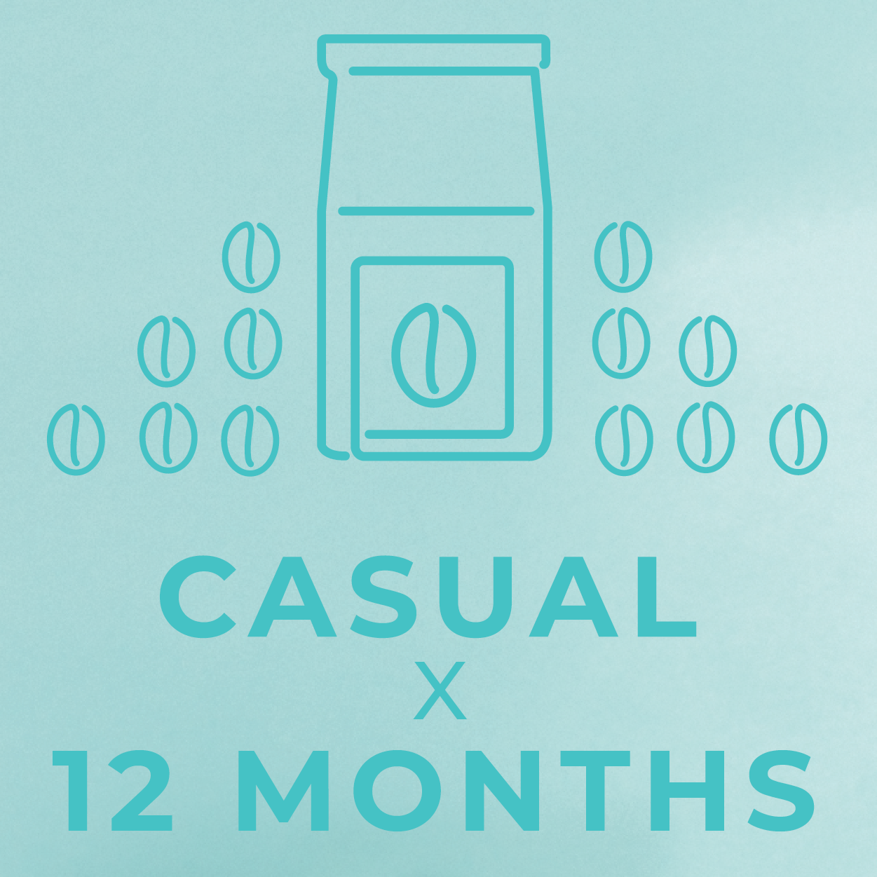 Casual- 12 month paid subscription-Rotating-Neon Coffee Company