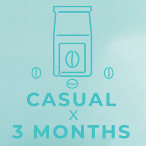 Casual- 3 month paid subscription-Rotating-Neon Coffee Company