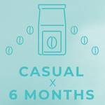 Casual- 6 month paid subscription-Rotating-Neon Coffee Company