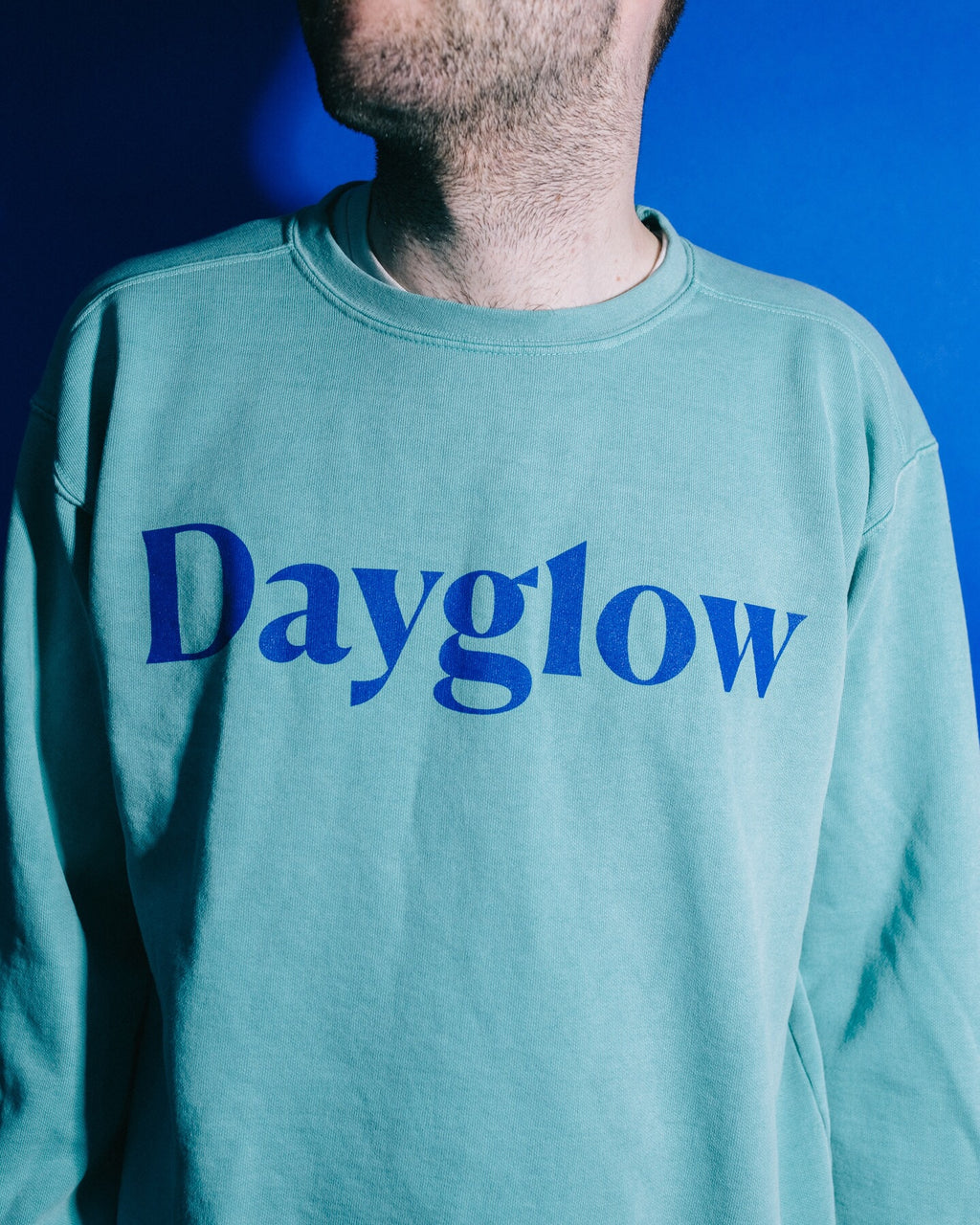Dayglow Crewneck- Green