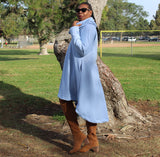Nakidbird-Asymmetrical Slouchy Cowl Neck Sweatshirt Maxi Dress, S-5X-[handmade plus sized fashion]-Nakidbird