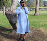 Nakidbird-Sweatshirt Hoodie Maxi Dress, S-4X-[handmade plus sized fashion]-Nakidbird