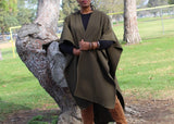 Nakidbird-Luxe Fleece Wrap Poncho-[handmade plus sized fashion]-Nakidbird