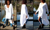 Asymmetrical Tee Shirt Maxi Dress, XS-3X