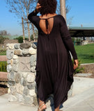 Nakidbird-Long Sleeve Harem Jumpsuit-[handmade plus sized fashion]-Nakidbird