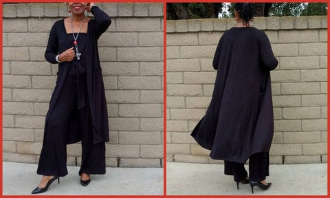 Nakidbird-Long Sleeve Knit Cardigan With Pockets, S-4X-[handmade plus sized fashion]-Nakidbird