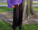 Nakidbird-High Waist Wide Leg Knit Pants, Size 4 - 26-[handmade plus sized fashion]-Nakidbird