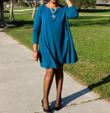 Jersey Swing Dress With Pockets, XS-4X