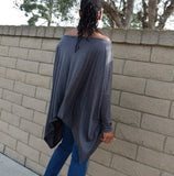 Nakidbird-Off The Shoulder Over Sized Tee, XS-5X-[handmade plus sized fashion]-Nakidbird