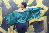 Nakidbird-Women's Velour Kimono Sleeve Top, One Size, 3 Colors-[handmade plus sized fashion]-Nakidbird