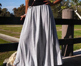 Nakidbird-Aline Knit Maxi skirt-[handmade plus sized fashion]-Nakidbird