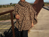 Nakidbird-Hooded Cape, Plus Size Fleece Poncho, One Size-[handmade plus sized fashion]-Nakidbird