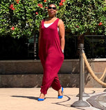 Nakidbird-Sleeveless Slouchy Harem Jumpsuit S-5X-[handmade plus sized fashion]-Nakidbird