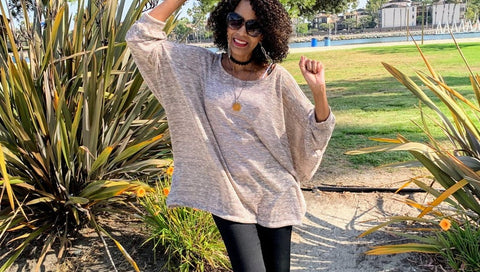 Nakidbird- Over Sized Bat-Wing Pullover Sweater-[handmade plus sized fashion]-free shipping-Nakidbird