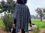 Reversible Poncho Wrap Cape Jacket One Size