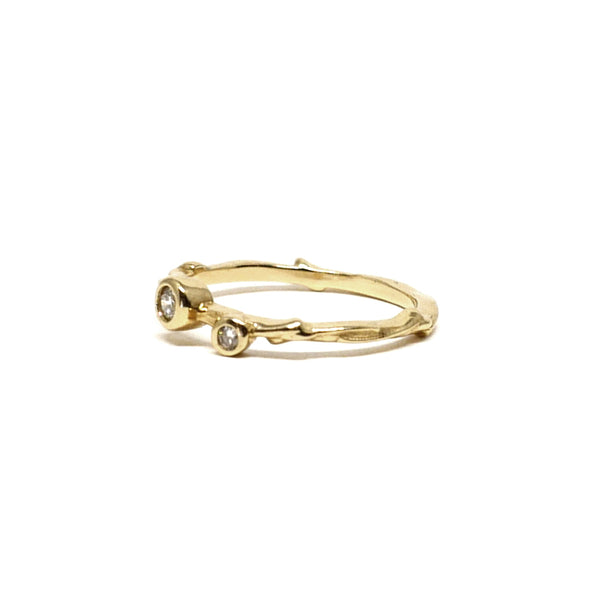2 Stone Family Tree Twig Ring