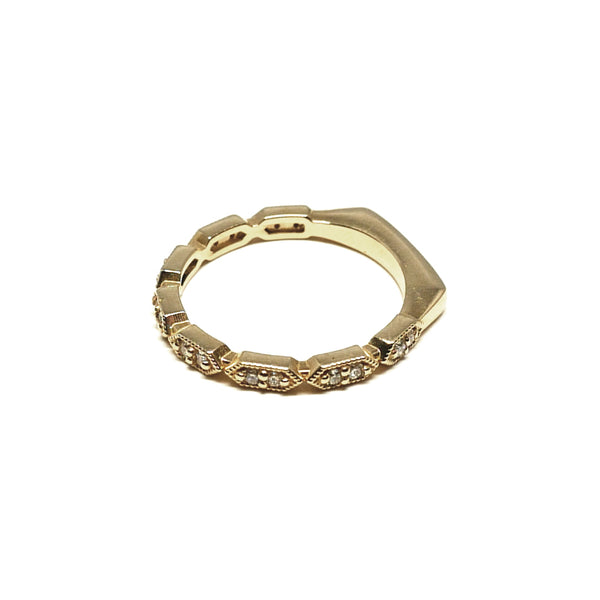 Deco Hexagon Ring