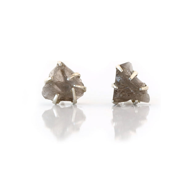 Smokey Quartz Gemstone Studs