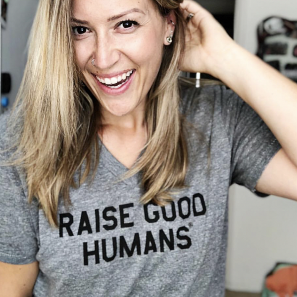 Raise Good Humans Gray Tee
