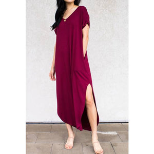 Bamboo Solid Maxi Dress