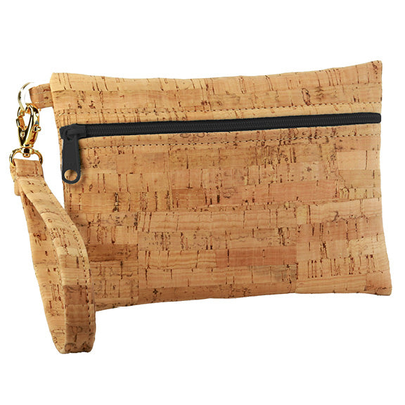 Natalie Therese - Be Ready Small Wristlet | Rustic Cork