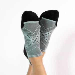 Faceplant Bamboo® ankle socks- Black/Aqua
