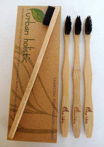 Biodegradable Bamboo/Charcoal 4pk Toothbrush