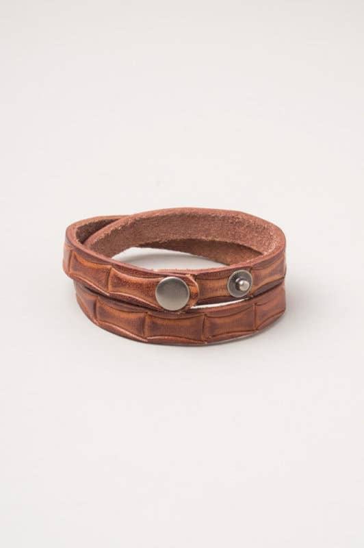 Kona Brown Leather Bracelet