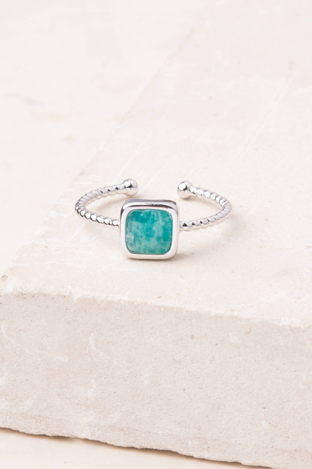 Silver and Amazonite Gianna Ring