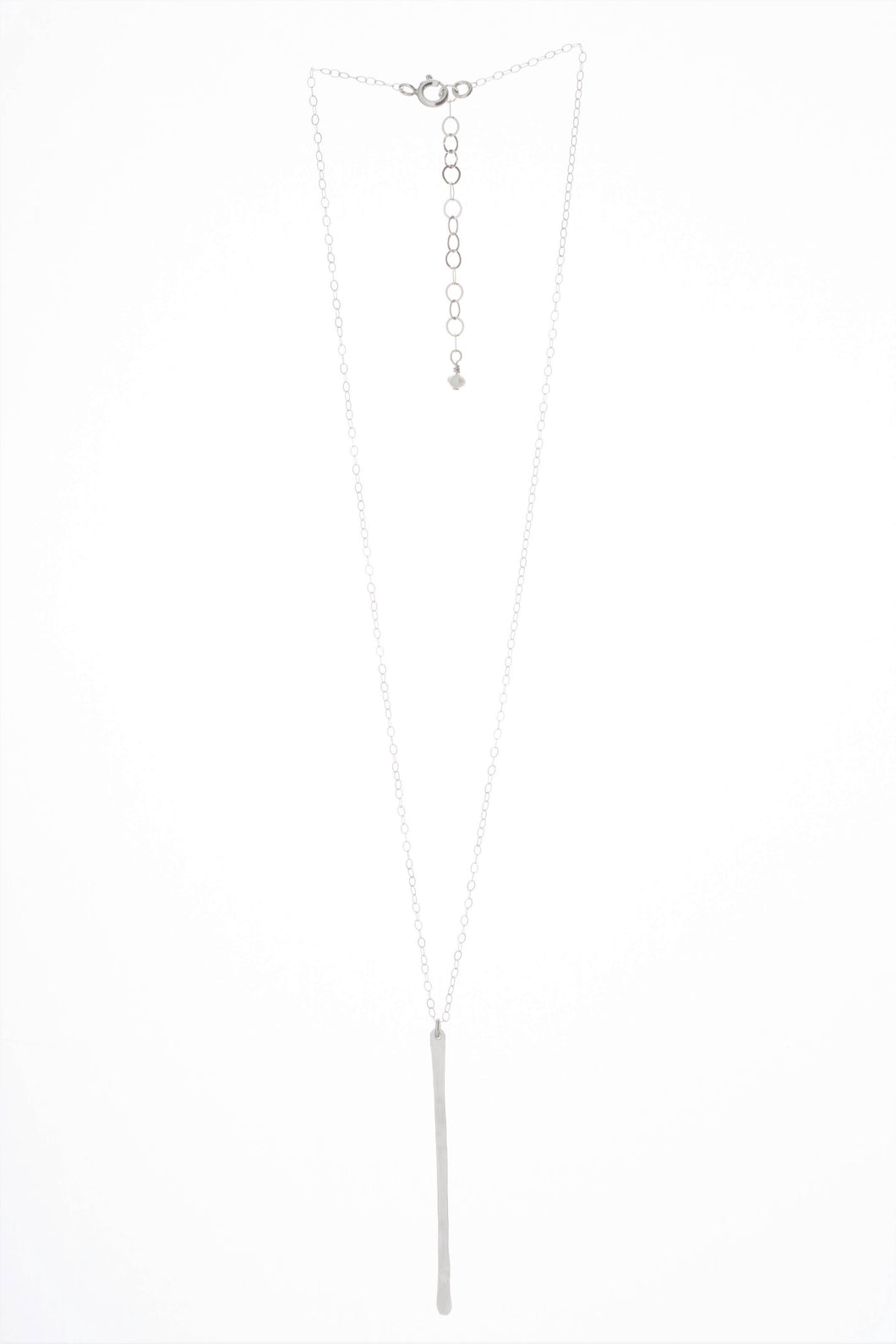 J. Mills Studio - Forged Vertical Bar Necklace - Silver