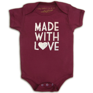 Organic Made with Love onesie