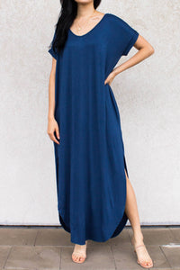 blue bamboo maxi dress