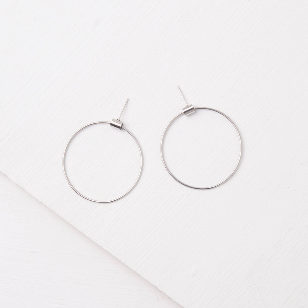 Brooklyn Silver Hoop Earrings