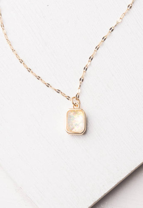 Lila White & Gold Necklace