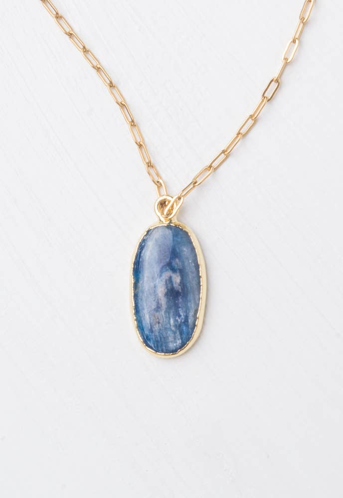 Kyanite Blue Pendant Necklace