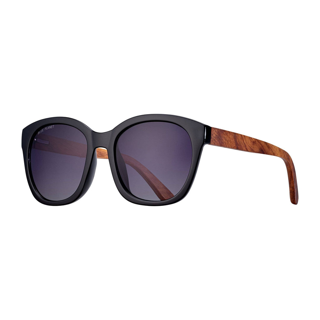 Aldin - Onyx / Walnut Wood / Gradient Smoke Polarized