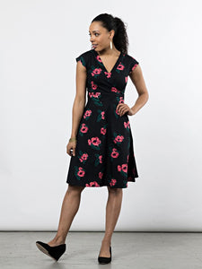 Oberlin Dress - Pixel Rose