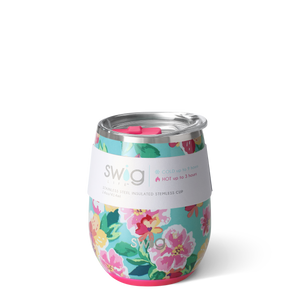 Island Bloom Signature 14oz Stemless Cup